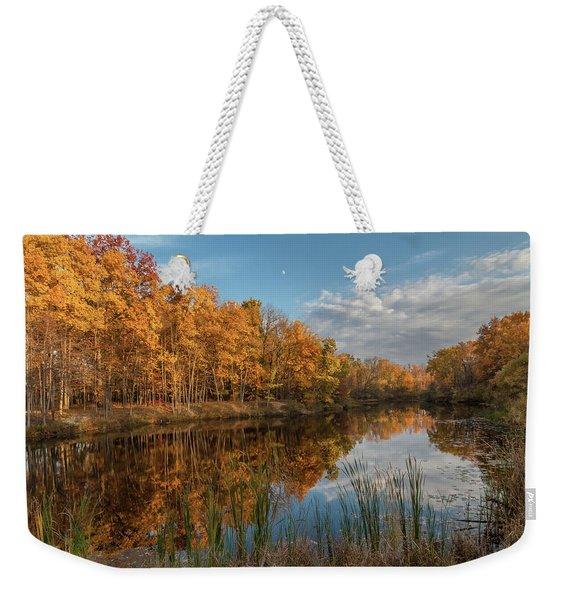 Beyer's Pond In Autumn Weekender Tote Bag