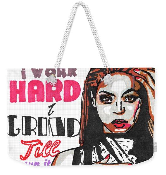 Beyonce Pop Art Painting Weekender Tote Bag