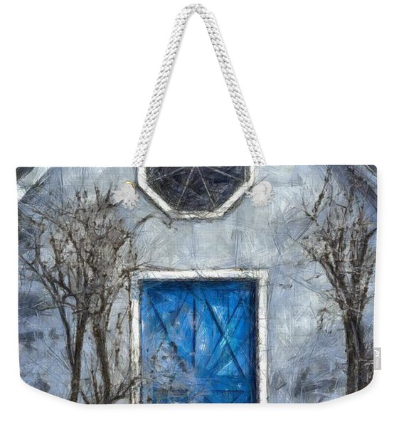 Beyond The Blue Door Pencil Weekender Tote Bag