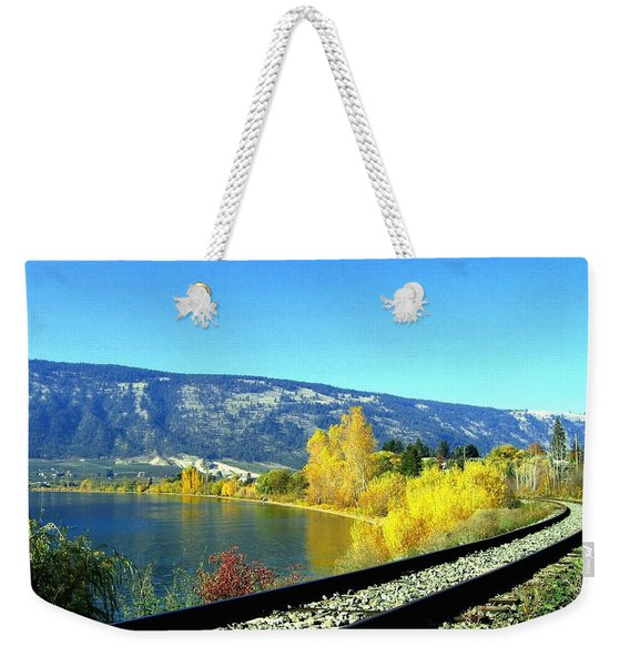 Beyond The Next Bend Weekender Tote Bag