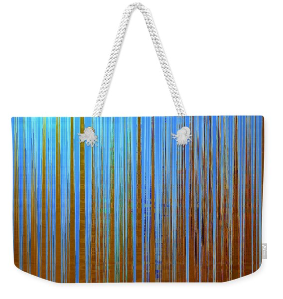 Weekender Tote Bag featuring the digital art Beyond The Veil  by Gina Harrison