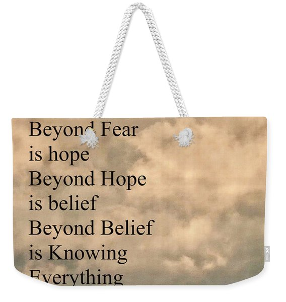 Beyond Words Weekender Tote Bag