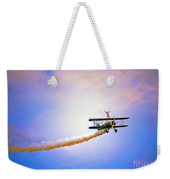 Bi-plane And Wing Walker Weekender Tote Bag