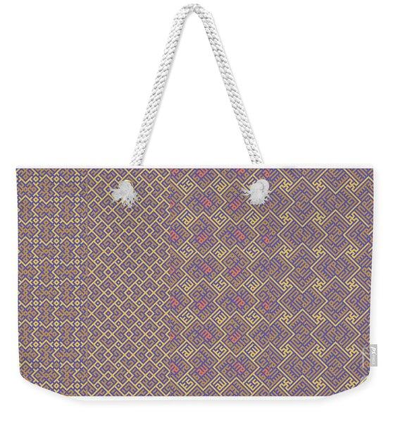 Bibi Khanum Ds Patterns No.6 Weekender Tote Bag