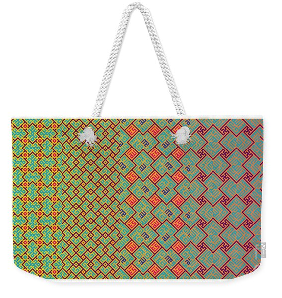 Bibi Khanum Ds Patterns No.8 Weekender Tote Bag