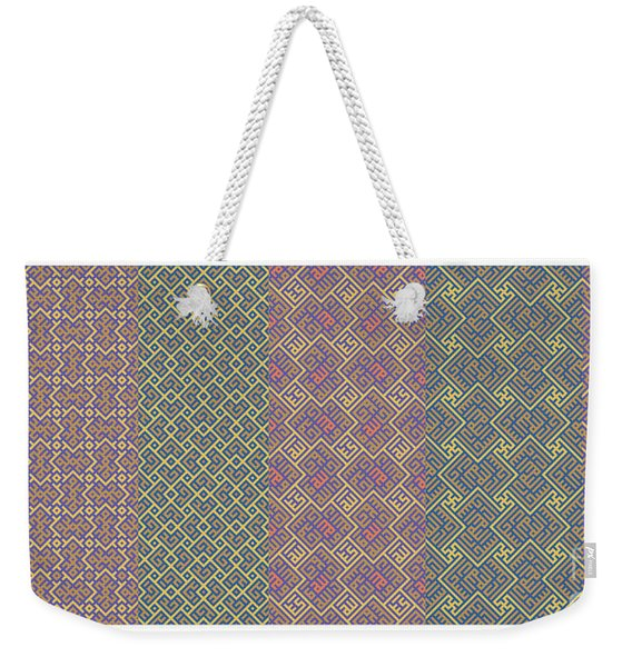 Bibi Khanum Ds Patterns No.9 Weekender Tote Bag