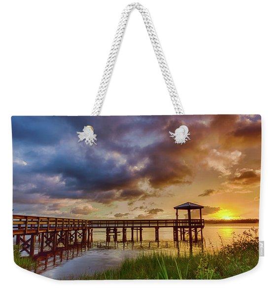 Bicentennial Sunset Weekender Tote Bag