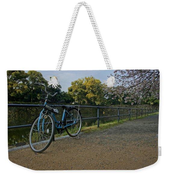 Bicycle And Tokyo Imperial Palace Weekender Tote Bag