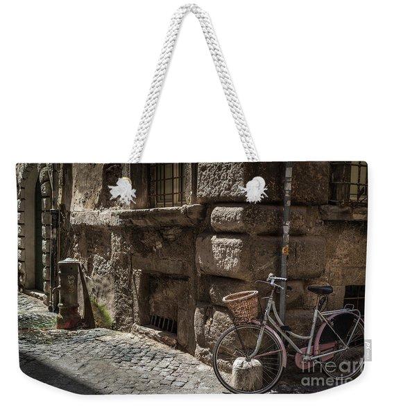 Bicycle In Rome, Italy Weekender Tote Bag