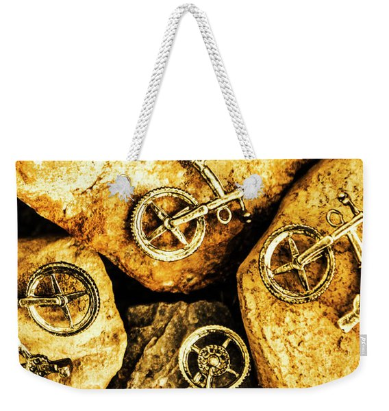 Bicycle Obstacle Course Weekender Tote Bag