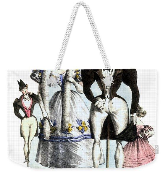 Biedermeier French Fashion -les Fashionables Weekender Tote Bag