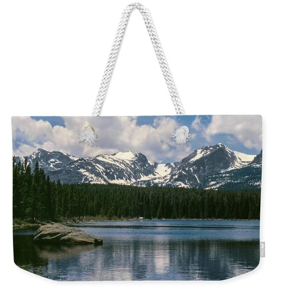 Bierstadt Lake Hallett And Otis Peaks Rocky  Mountain National Park Weekender Tote Bag