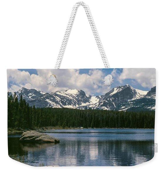 Bierstadt Lake Hallett And Otis Peaks Rocky  Mountain National Park Weekender Tote Bag