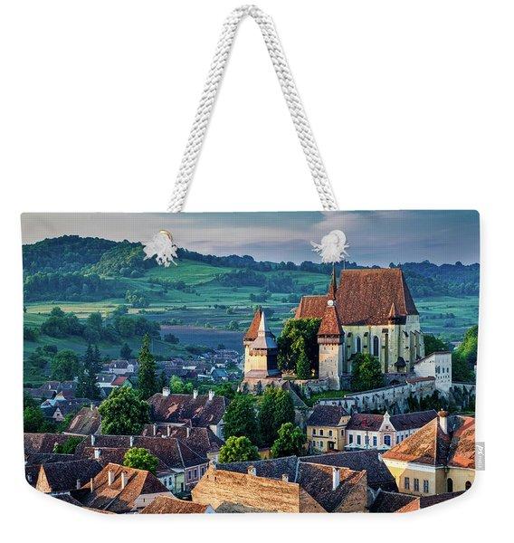 Biertan Church Dawn - Romania Weekender Tote Bag