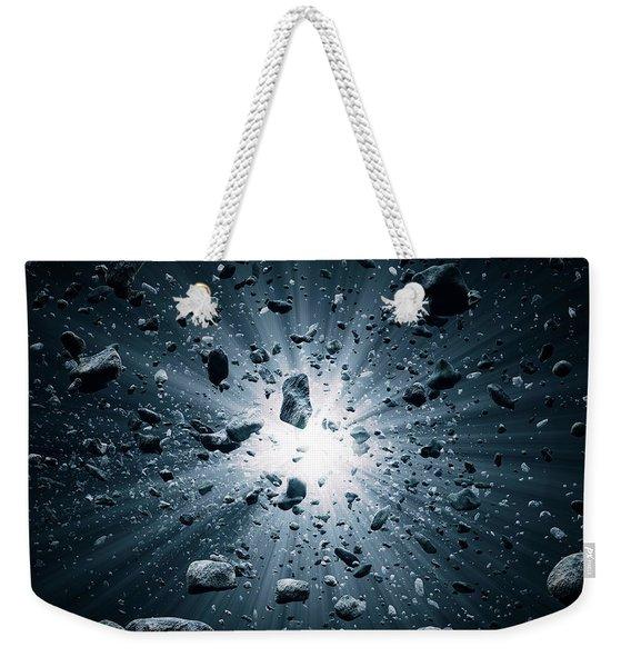 Big Bang Explosion In Space Weekender Tote Bag