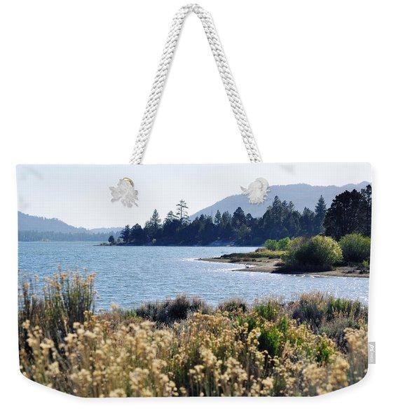 Big Bear Lake Shoreline Weekender Tote Bag