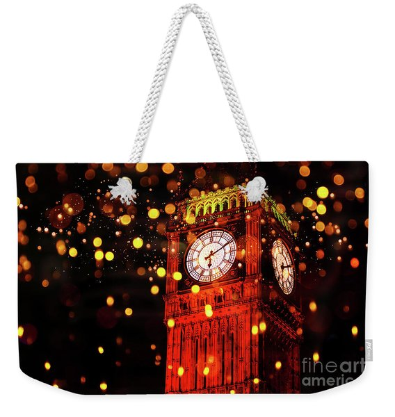 Big Ben Aglow Weekender Tote Bag