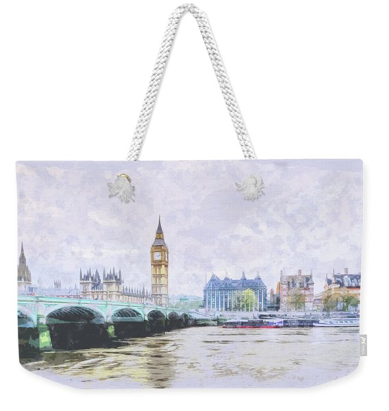 Big Ben And Westminster Bridge London England Weekender Tote Bag