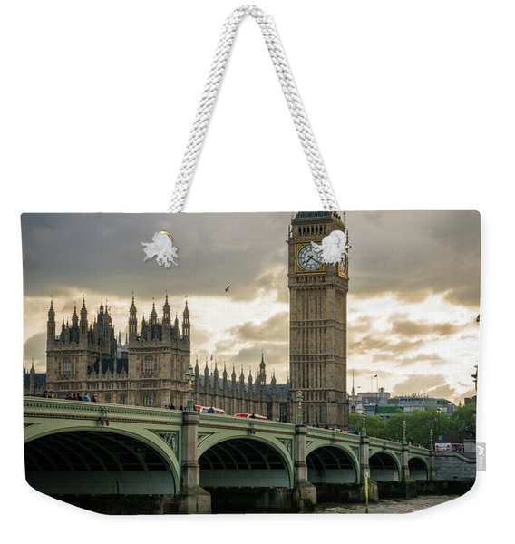 Big Ben At Sunset Weekender Tote Bag