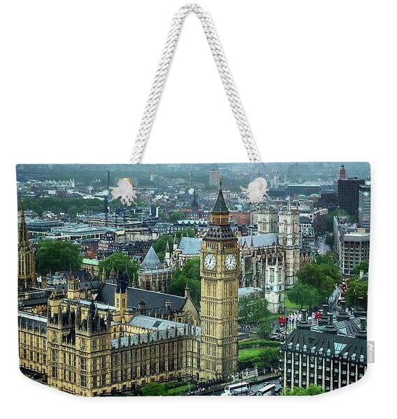 Big Ben From The London Eye Weekender Tote Bag