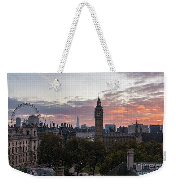 Big Ben London Sunrise Weekender Tote Bag