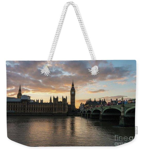 Big Ben London Sunset Weekender Tote Bag