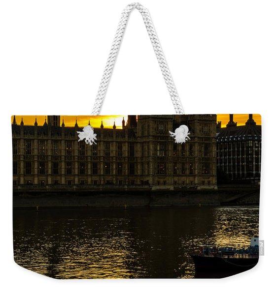 Big Ben Tower Golden Hour In London Weekender Tote Bag