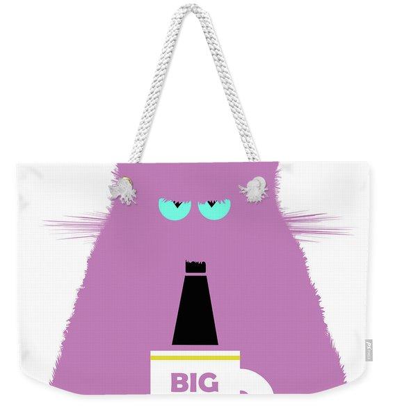 Big Boss Lilac Cat Weekender Tote Bag