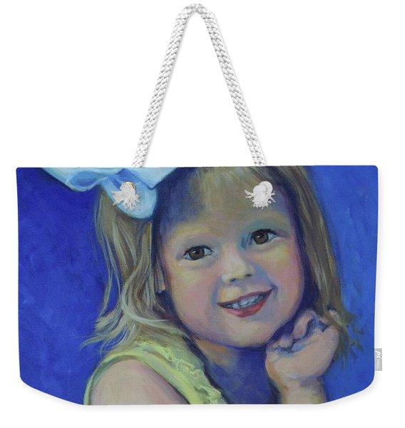 Big Bow Little Girl Weekender Tote Bag