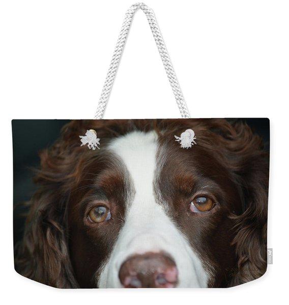 Big Brown Eyes Weekender Tote Bag