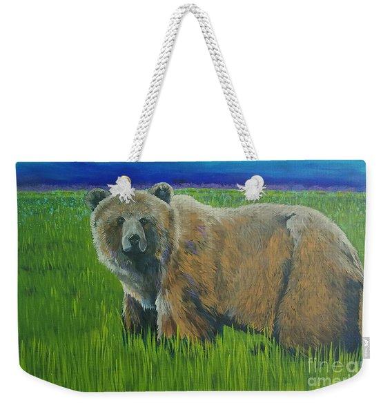 Big Brown Weekender Tote Bag