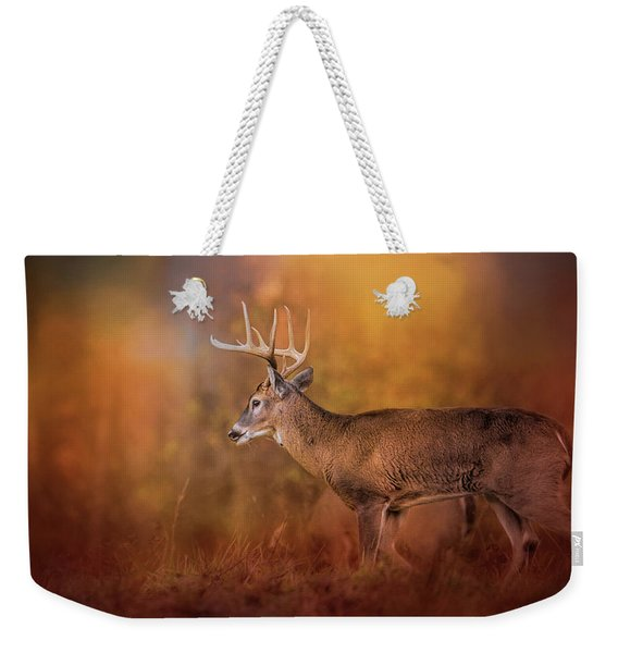 Big Buck In Autumn White Tailed Deer Art Weekender Tote Bag