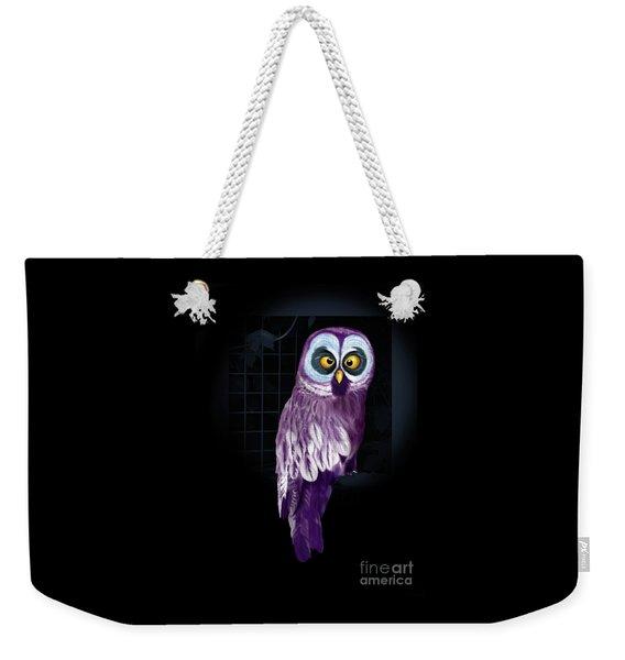 Big Eyed Owl Weekender Tote Bag