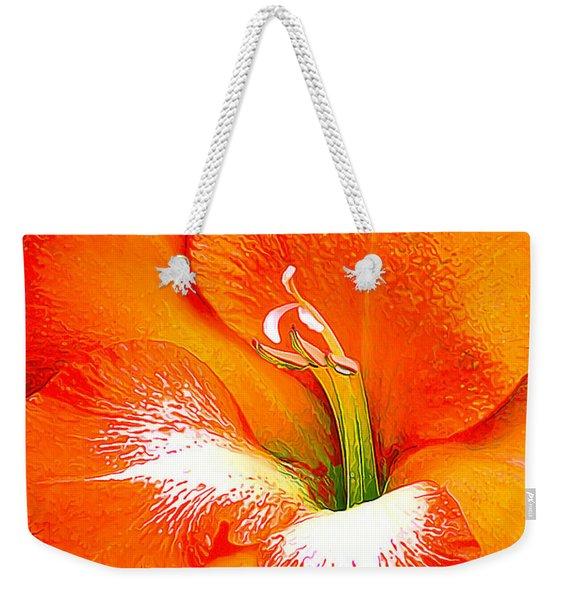 Big Glad In Bright Orange Weekender Tote Bag