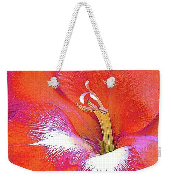 Big Glad In Orange And Fuchsia Weekender Tote Bag