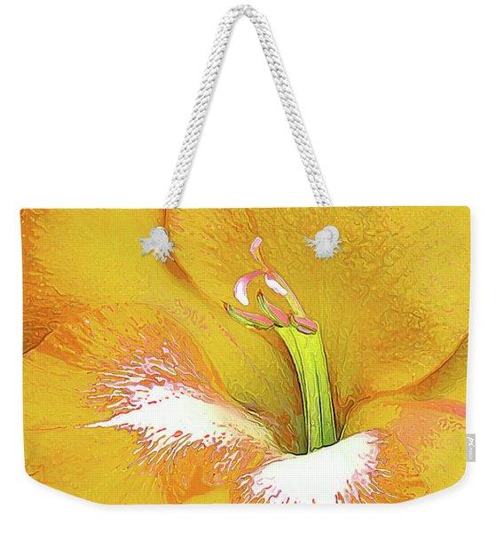 Big Glad In Yellow Weekender Tote Bag