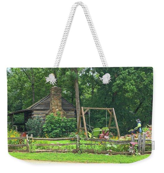 Big Holly Cabin Weekender Tote Bag