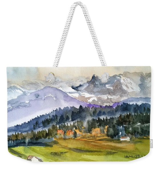 Big Mountain Sunset Weekender Tote Bag