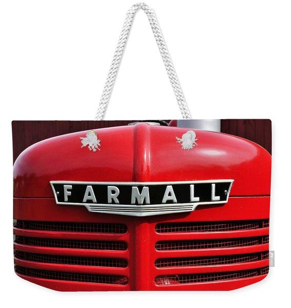 Big Red Farmall Weekender Tote Bag