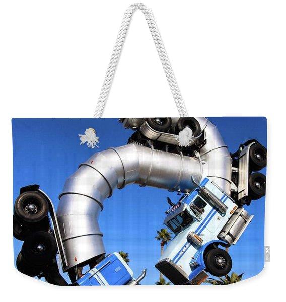 Big Rig Jig Balancing In Vegas Weekender Tote Bag