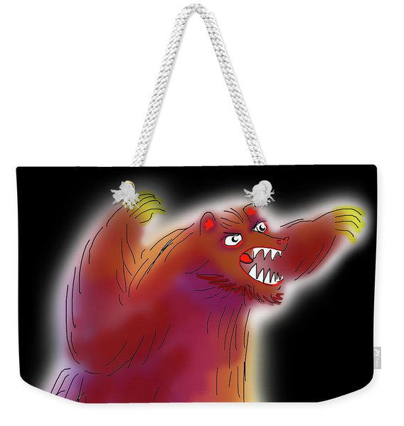 Big Scary Bear Weekender Tote Bag