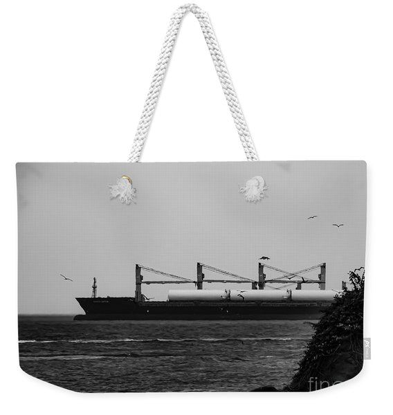 Big Ship Weekender Tote Bag