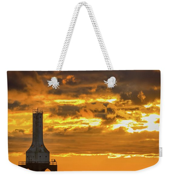 Big Water Sunrise V Weekender Tote Bag