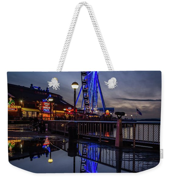 Big Wheel Reflection Weekender Tote Bag