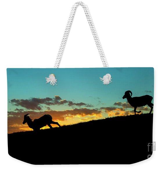 Bighorn Sunset Weekender Tote Bag