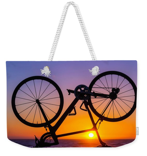 Bike On Seawall Weekender Tote Bag
