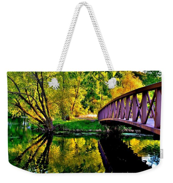 Bike Path Bridge Weekender Tote Bag
