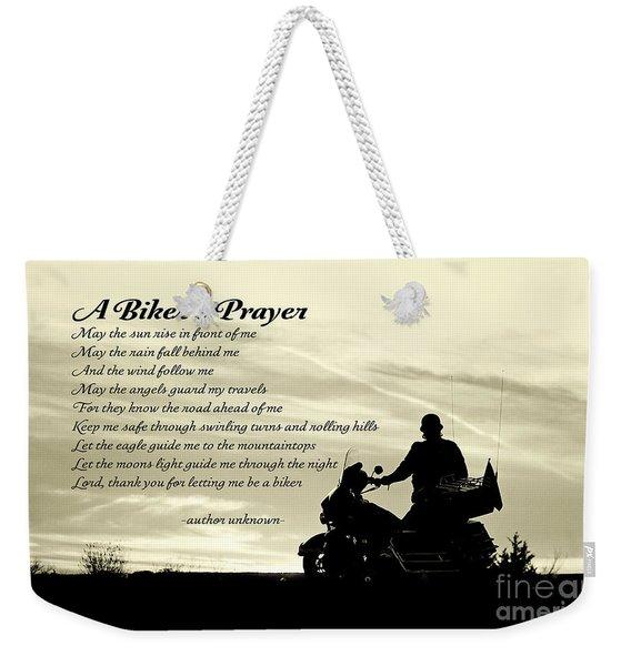 Biker's Prayer Weekender Tote Bag