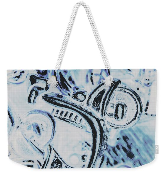 Bikes And Blue Cities Weekender Tote Bag