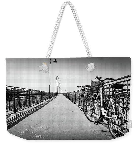 Bikes And Fences. Weekender Tote Bag